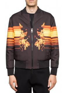 Neil Barrett Flame Reversible Bomber Jacket
