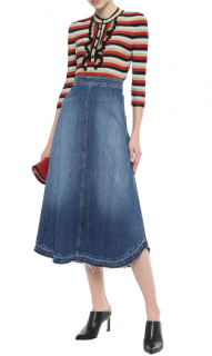 Philosophy Di Lorenzo Serafini Dark denim Ellen flared denim skirt