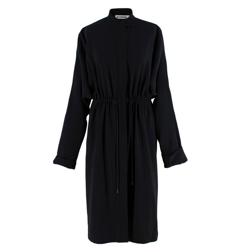 Jil Sander Navy Crepe Lightweight Coat