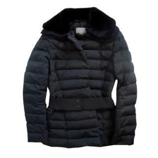 Moncler Black Down Belted Puffer Coat