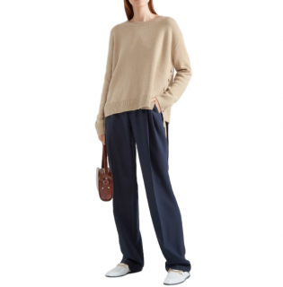 Vince Beige Lace-up cashmere sweater