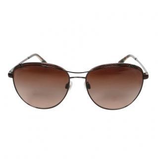 Chanel Bronze 4188 Aviator Sunglasses