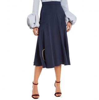 Roksanda Carson circle reverse-applique silk skirt