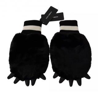 Dolce & Gabbana  Faux Fur Paw Gloves