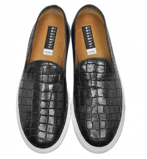 Fratelli Rossetti Croc Embossed Slip-on Sneakers
