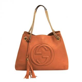 Gucci Tan Soho Chain Shoulder Tote