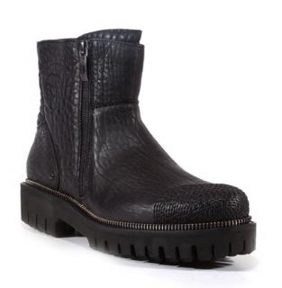 Cesare Paciotti Elefante Grained Leather Boots