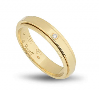 Piaget 18ct Yellow Gold Free Moving Band ring with Diamond
