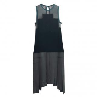 Jean Paul Gaultier Silk Mesh Panelled Sleeveless Dress