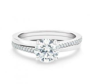 De Beers Platinum Promise Solitaire Diamond Ring
