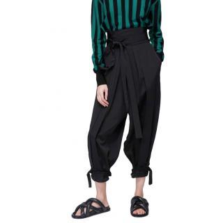J.W. Anderson Black Drop Waist Pleated Trousers