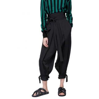 J.W. Anderson Black Drop Waist Pleated Trousers