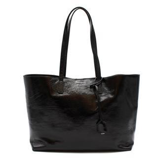 Saint Laurent Black Patent Leather Shopping Tote