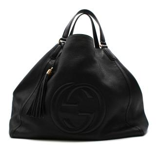 Gucci Black Leather Large Soho Tote Bag