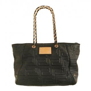 Gianni Versace Black Quilted Nappa Shoulder Bag