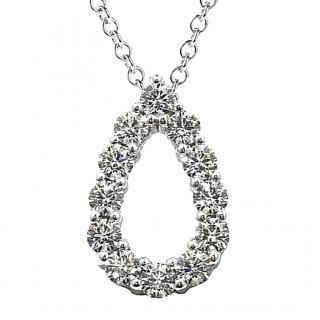 Hearts on Fire Teardrop Diamond Pendant Necklace