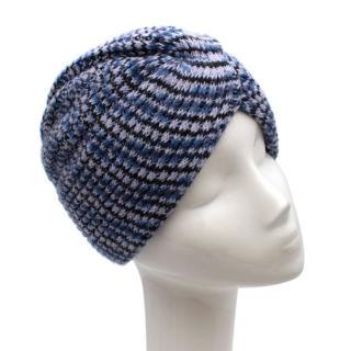 Missoni Blue/Purple Wool Knit Turban