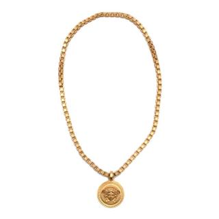 Versace Golden Medusa Medallion Chain Necklace