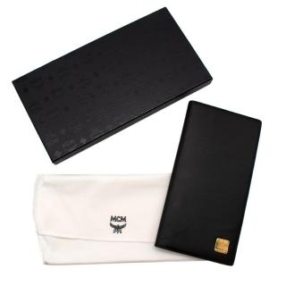 MCM Black Leather Large Bifold Wallet
