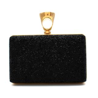 Tom Ford Micro Crystal Embellished Box Clutch