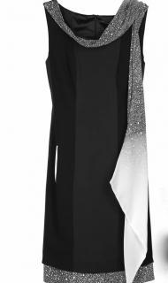 Jonathan Saunders Black Erin Sleeveless Silk Dress