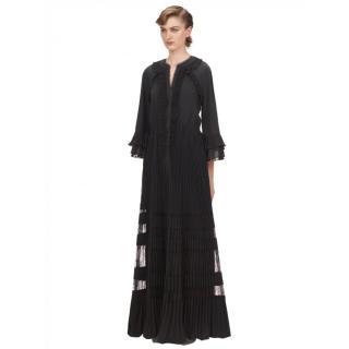 Self Portrait Black Ruffle Maxi Dress