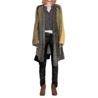 Zadig & Voltaire Deluxe Celia Wool Blend Striped Cardigan