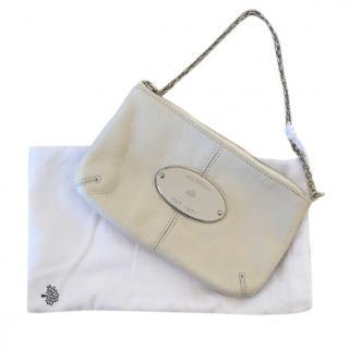 Mulberry Cream Charlie Chain Clutch Bag