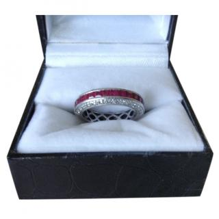Bespoke Platinum Set Ruby & Diamond Ring