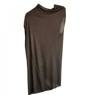 Rick Owens Vintage Fabric Stretch Asymmetric Top