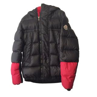 Moncler Kids Black & Red Puffer Jacket