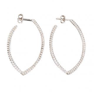 Bespoke 18kt White Gold Diamond Earrings