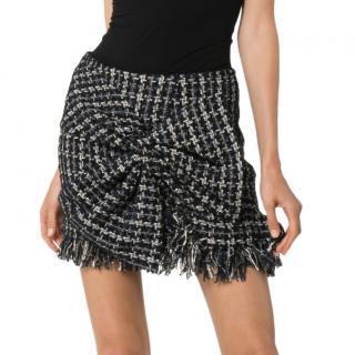 Faith Connexion Tweed Bow Applique Mini Skirt