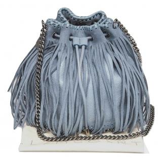 Stella McCartney Shaggy Faux Leather Fringed Bucket Bag