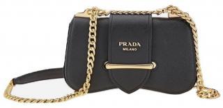 Prada Black Saffiano Leather Sidonie Crossbody Bag
