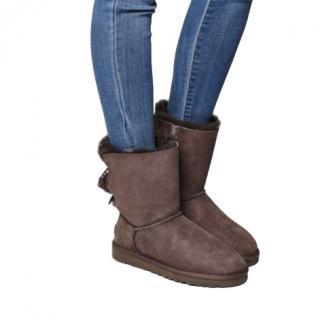 Ugg Bailey Bow Calf Boots Chocolate