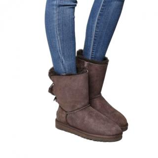 Ugg Bailey Bow Calf Boots Chocolate