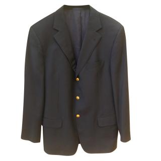 Burberry Navy Single Breasted Jacket