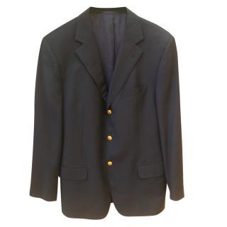 Burberry Navy Single Breasted Jacket