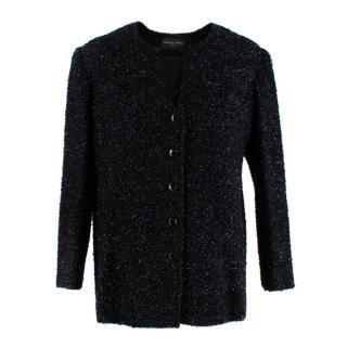 Stewart Parvin Black Lurex Textured Tweed Jacket