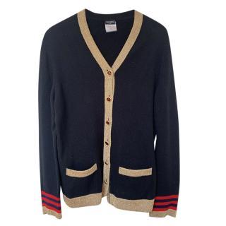 Chanel Paris/Moscow Cashmere Black Cardigan