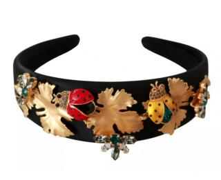Dolce & Gabbana Black Crystal Ladybird Embellished Tiara