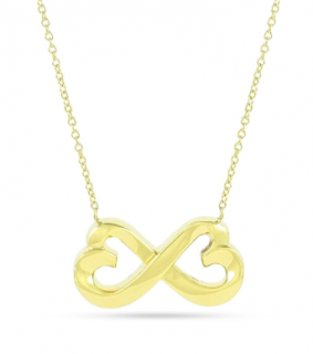 Tiffany & Co. 18ct Yellow Gold Paloma Picasso Infinity Heart Necklace