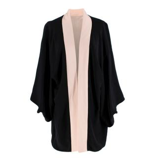 Agent Provocateur Black & Pink Silk Kimono Robe