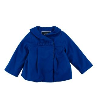 Jacadi Blue Cotton Double Breasted Padded Coat