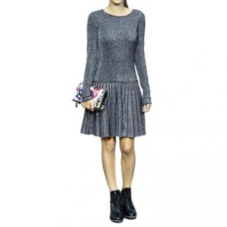 Chanel Metallic Pleated Classic Dress