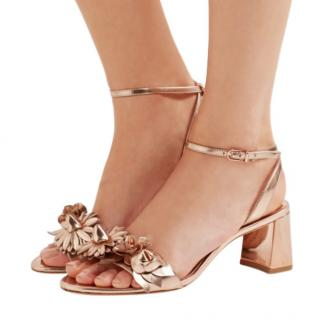Sophia Webster Lilico appliqu�d metallic leather sandals