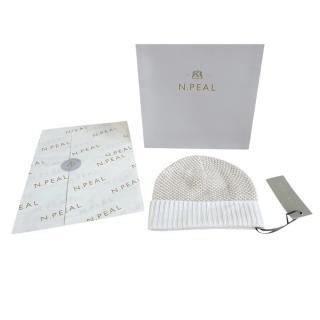 N.Peal Lurex Cashmere Knit Hat
