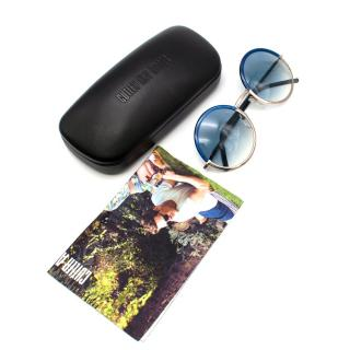 Cutler and Gross Round Blue/Silver Ombre Sunglasses