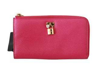 Dolce & Gabbana Pink Continental Zip Wallet